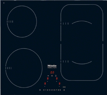 MIELE KM 6323 Induction hob with onset controls with PowerFlex cooking zone